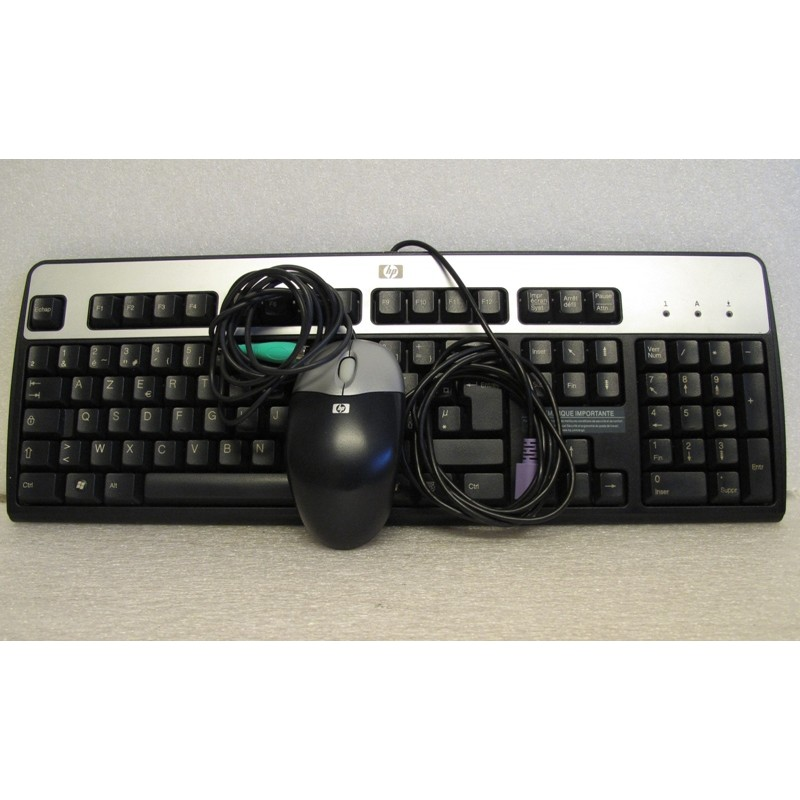 Clavier HP AZERTY PS/2 - Souris PS/2 HP
