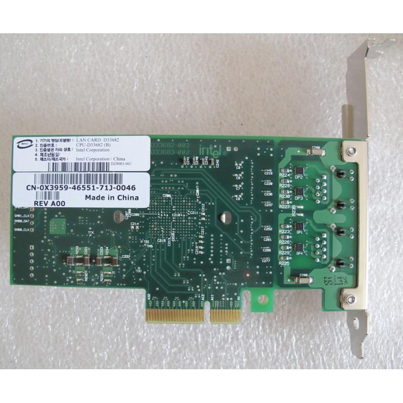 Carte réseau dual port 10/100/1000 Base T PCI e Intel pro