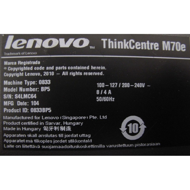 Pc Lenovo M70e