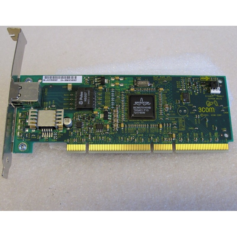 Carte réseau 3Com 3C996B-T RJ45 10/100/1000 PCI-X