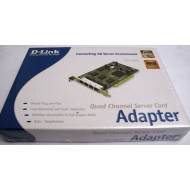 D-LINK DFE-580TX 4‑Port PCI Bus 10‑100Mbps Fast Ethernet Server adapter