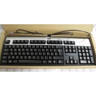 Clavier HP 434820-052 AZERTY PS/2 Noir Argent