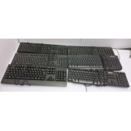 Lot de 6 kits claviers souris USB d'occasion non nettoyés de marques différentes