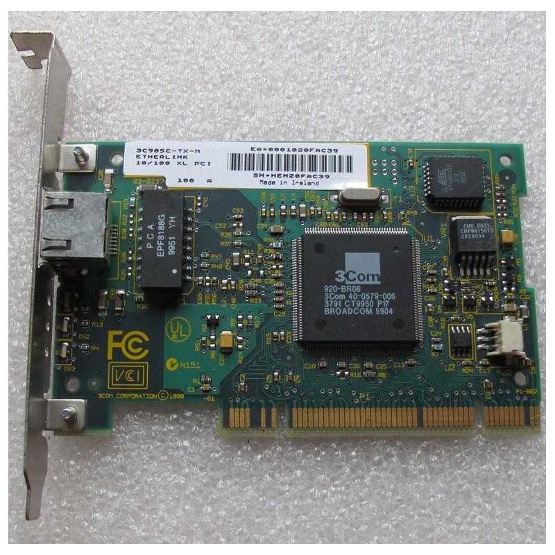 Carte réseau 3C905C-TX RJ45 10/100 Base-TX PCI