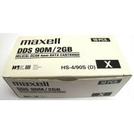 Maxell HS-4/90s DAT DDS-1 Lot de 10 Data Cartridge 2Gb/4Gb